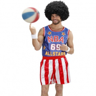 Kostüm BASEBALL SPIELER 52 L mit aufblasbarem 82 cm Ballschläger Sportler