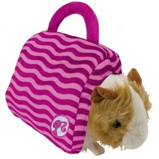 Plüsch Meerschweinchen inklusive Tasche Barbie Plüschtier Stofftier Kuscheltier