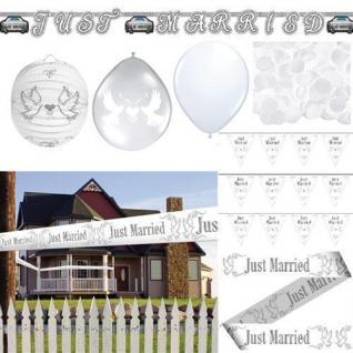 JUST MARRIED Hochzeits Dekoration Party feierlich festlich Ballon AUSWAHL