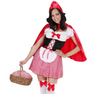 Damen Kostüm Sexy Rotkäppchen Red Riding Hood Märchen Wolf Gr. 36 38 40 42 44 46