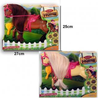 PARADISE PFERDE SPIELSET Kinder Spielzeug Pferd mit Sattel Trense und Bürste