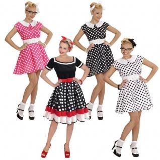 db23c9b82230db ROCKABILLY KLEID mit PETTICOAT 50er Jahre Rock'n Roll Damen Kostüm  Partykleid