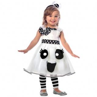 GEIST Mädchen Kinder Kostüm Kleinkinder Gr. 98 104 Kleid + Haarreif Halloween