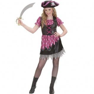 Piratengirl Piratin Kinder Kostüm Gr.140 Kleid mit Hut - Fasching Karneval