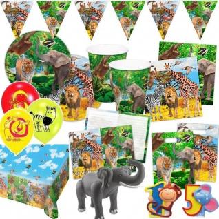 SAFARI TIERE Mega-Auswahl zum Kindergeburtstag Party Deko Geburtstag - Teller