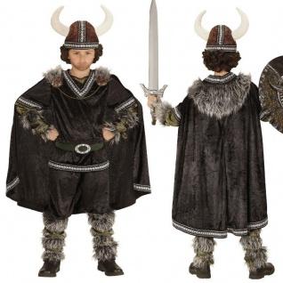 Krieger Wikinger Kinder Jungen Kostüm NEU Knut Barbaren Mittelalter Karneval