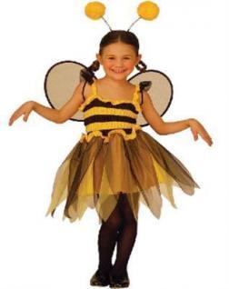 Kinder Kostüm LITTLE BEE Gr.110 Karneval Kleine Biene Tiere Märchen (3472)