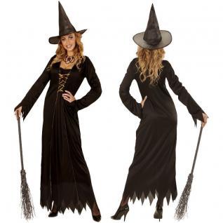 Hexenkostüm Kostüm für Damen Hexe Hut Hexenkleid Halloween 34 36 38 40 42 44 46