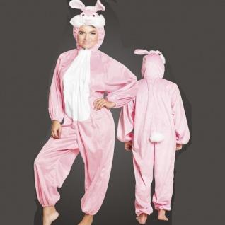 HASE Bunny KOSTÜM Plüsch Overall bis Gr. 165 cm Unisex Tierkostüm Karneval #8417