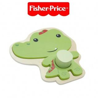 Fisher Price tierisches Holzpuzzle Legespiel Legepuzzle Puzzle Holz Krokodil 220