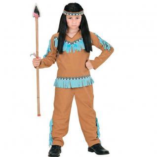 Indianer Junge Kinder Kostüm Gr.128 5-7 J. Winnetou Apachen Krieger camel 6676