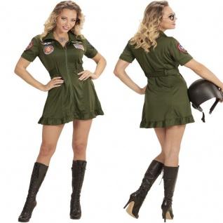 Damen Kostüm Kampfjet JET PILOTIN - TOP GUN Karneval Fasching 34 36 38 40 42 44
