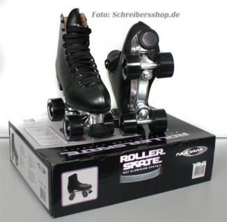 UNISEX LEDER Rollschuhe Schwarz Gr. 37 38 39 40 41 42 43