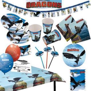 DRAGONS Drachenzähmen Kinder Motto Party Kindergeburtstag Geburtstag AUSWAHL