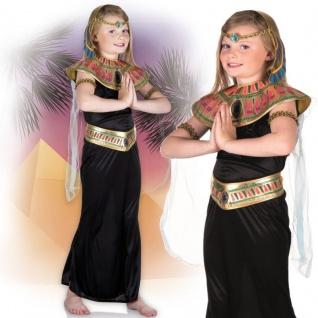 Mädchen Kleopatra Ägyptische Königin Kinder Kostüm Gr.122-128 Prinzessin #2122