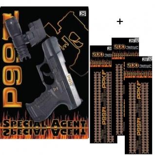 Special Agent P99 + Licht Zielvorrichtung + 600 Schuss Kinder Pistole Spielzeug