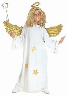 TOP Star Kinder Engel Kostüm mit Heiligenschein Gr. 158 - S3818