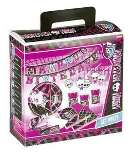 Monster High Party Koffer Kindergeburtstag Teller Becher Servietten Trinkhalme