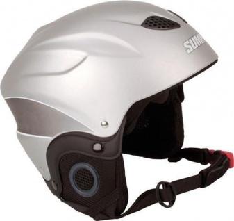 SKIHELM Snowboardhelm Ski Helm silber Gr. L (58-60) Skisport Snowboard Unisex