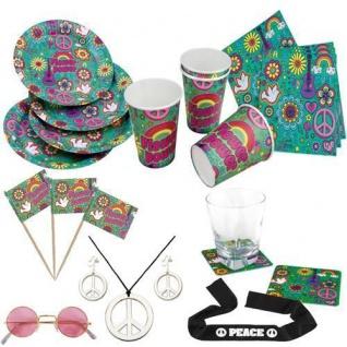 60er 70er Jahre Hippie Party PEACE FLOWER POWER Outdoor Geburtstags Party