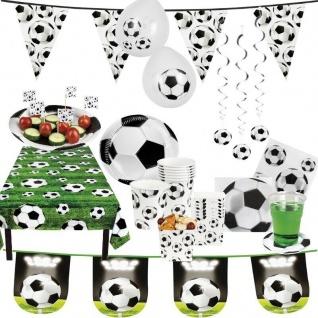 Fussball Motto Party Kicker Kinder Geburtstag Feier PREISHIT TischDeko Geschirr