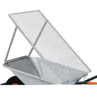 Brista Schiebkarren-Durchwurfsieb 100x60 cm Durchwurfgitter Kompostsieb