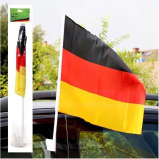 2x Autofahne 20x30cm Auto Deutschland Fan Artikel Dekoration Party WM+EM #20582