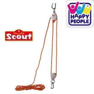 Happy People 19396 Scout Flaschenzug bis 50kg belastbar, mit Aufhängung