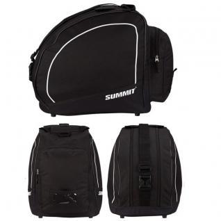 SKISCHUHTASCHE mit zwei Fächern -schwarz/weiß- SUMMIT Inliner Rollschuh Tasche