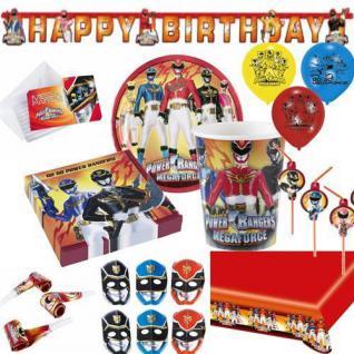 POWER RANGER Kindergeburtstag Geburtstag Party Fete Motto AUSWAHL Teller Becher