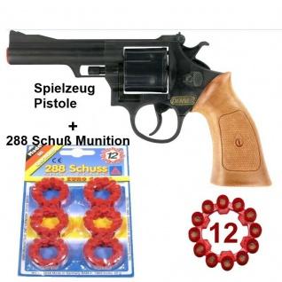 DENVER REVOLVER Kinder Spielzeug Pistole Waffe Karneval + 288 Schuß Munition