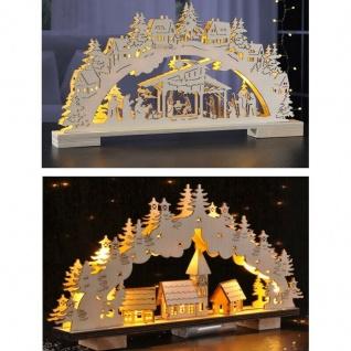 Schwibbogen LED Lichterbogen Fenster Deko Holz Fensterbogen 2 Modelle AUSWAHL
