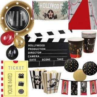 HOLLYWOOD Motto Party VIP Geburtstags DekorationKino Premiere Teller Becher