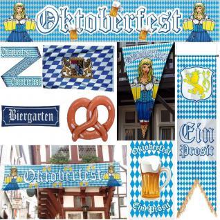 Oktoberfest Party Deko Bayern Bavaria Wiesn Flaggen Banner Poster Fahnen