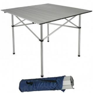 Klapptisch Campingtisch Alu 70x70cm Rolltisch Gartentisch Balkontisch #291