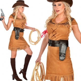 "Sexy Cowgirl Damen Kostüm "" Sierra"" Gr. M 38/40 - Western Cowboy Kleid #9452"