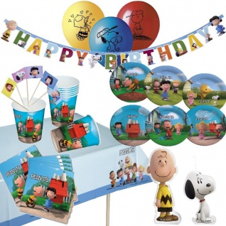 PEANUTS Kinder Geburtstag Motto Party - RIESEN AUSWAHL - Teller Becher Serviett