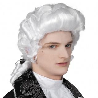 Herren Perücke Rokoko Barock Mozart Mittelalter Richter Karneval Fasching #6349
