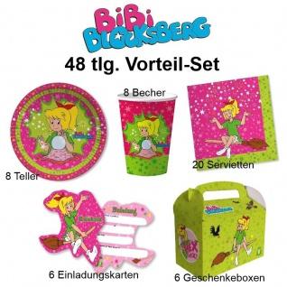48 tlg. Vorteil-Set BIBI BLOCKSBERG Kinder Geburtstag Party Deko Teller Becher
