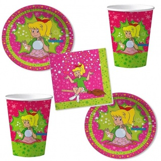 BIBI BLOCKSBERG Party Set - Becher Servietten Teller - Kinder Geburtstag 52 tlg.