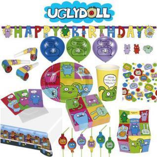 UGLYDOLL Kindergeburtstag Party Deko Mottoparty Ugly Dolls Teller Becher Serviet