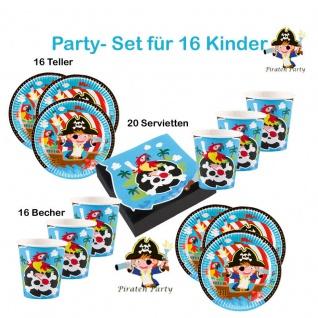 Piraten Seeräuber Set für 16 Kinder Party KINDER GEBURTSTAG Teller Becher usw.
