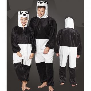 Panda Bär Plüsch Kostüm - Overall Damen Herren Jumpsuit Junggesellenabschied