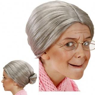 Kinder Oma Perücke Rentner Großmutter Omi Mädchen Kostüm Karneval #6271