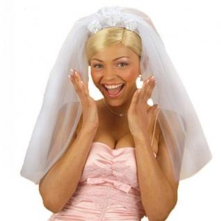 Klassischer weißer Brautschleier Diadem Junggesellenabschied Schleier Damen JGA