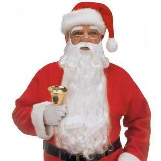WEIHNACHTSMANN BART UND AUGENBRAUEN Zubehör Nikolaus Kostüm Weihnachten (1523)
