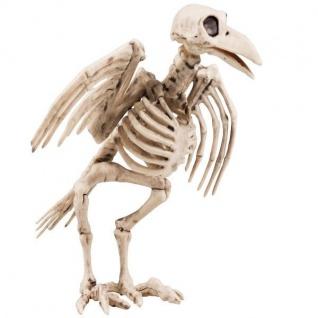 Horror MINI KRÄHENSKELETT 18 cm Halloween Dekoration Skelett Deko Aufsteller