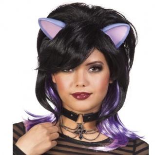 Perücke Felicia Maus mit Ohren - Karneval Fasching Fantasy Kitten Haare #5803