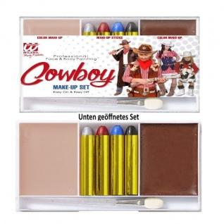 COWBOY Make-Up Set - professionelle Theater Schminke #2408