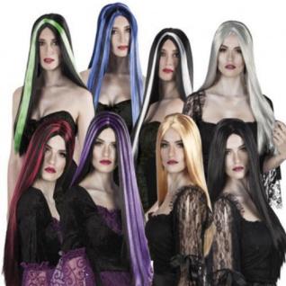 HEXE LANGHAAR PERÜCKE Hexen Damen Perrücke Vamp Halloween AUSWAHL